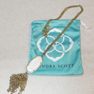 Kendra Scott white Rayne necklace